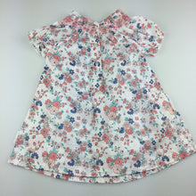 Load image into Gallery viewer, Girls Mockingbird, gorgeous lightweight floral cotton smocked dress, EUC, size 1