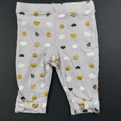 Girls Baby Baby, stretchy leggings / bottoms, gold glitter, EUC, size 0000