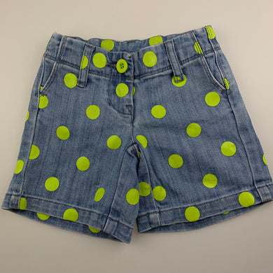 Boys Seed, blue stretch denim shorts, adjustable, GUC, size 1-2