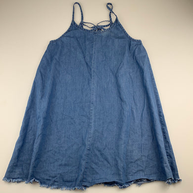Girls Miss Understood, blue chambray cotton casual summer dress, GUC, size 12