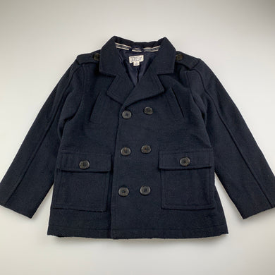 Boys Pumpkin Patch, navy military style winter jacket / coat, GUC, size 6