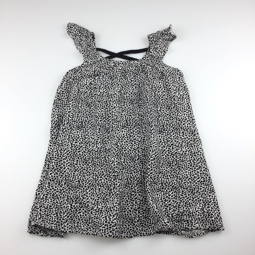 Target flowing black & white summer party dress, size 2, Pre-loved