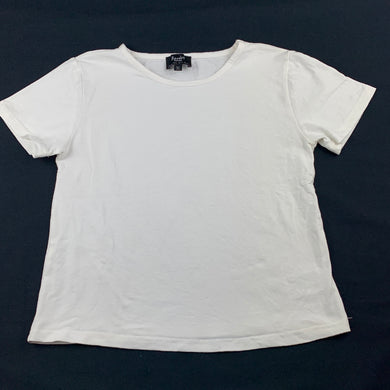 Girls Bardot Junior, white cropped t-shirt / top, L: 42cm, GUC, size 14