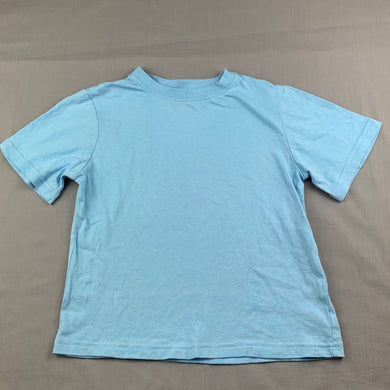 Boys H+T, blue cotton t-shirt / top, GUC, size 5
