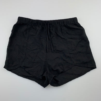 Girls Bardot Junior, black lightweight shorts, elasticated, GUC, size 14