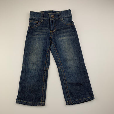 Boys Pumpkin Patch, dark denim jeans, adjustable, Inside leg: 35cm, GUC, size 2