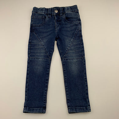 Boys Anko, dark stretch denim jeans, adjustable, Inside leg: 35cm, EUC, size 1