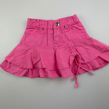 Load image into Gallery viewer, Girls Esprit, pink cotton skirt, adjustable, GUC, size 6 months