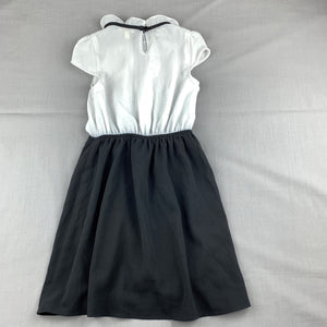 Girls Monteau Girl, chic lightweight black & white party dress, GUC, size 5