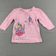 Load image into Gallery viewer, Girls Mango, pink cotton long sleeve t-shirt / top, fairy, EUC, size 0