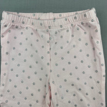 Load image into Gallery viewer, Girls Carter's, pink & silver spot leggings / bottoms, EUC, size 12 months