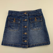 Load image into Gallery viewer, Girls Pumpkin Patch, blue denim skirt, adjustable, GUC, size 4