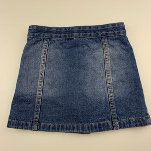 Girls Pumpkin Patch, blue denim skirt, adjustable, GUC, size 4