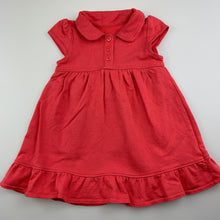 Load image into Gallery viewer, Girls Mothercare, coral cotton casual dress, FUC, size 0