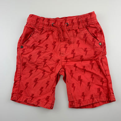 Boys Sprout, red / orange cotton shorts, elasticated, GUC, size 2