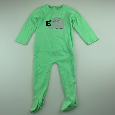 Unisex Seed, green soft stretchy coverall / romper, EUC, size 00