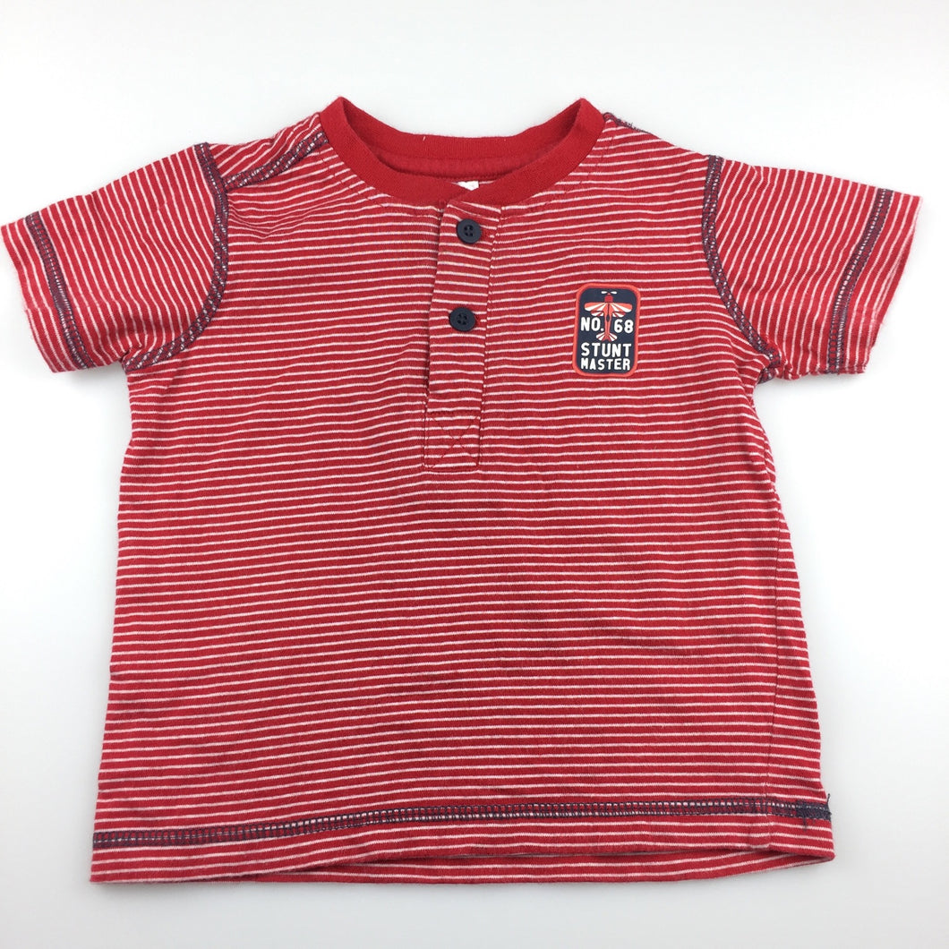 Boys Target, red & white stripe soft cotton t-shirt / tee, GUC, size 1