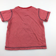 Load image into Gallery viewer, Boys Target, red & white stripe soft cotton t-shirt / tee, GUC, size 1