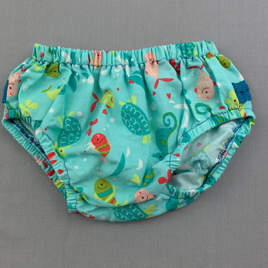 Girls Arnie, colourful cotton bloomers / nappy cover, EUC, size 0