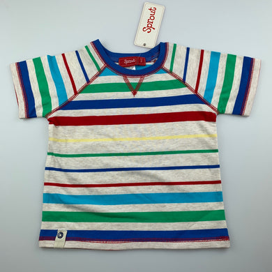 Boys Sprout, stretchy striped t-shirt / top, NEW, size 2