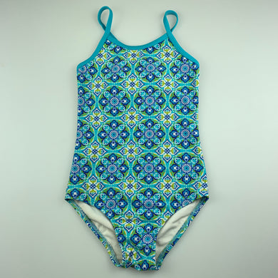 Girls 2Chillies, floral swim one-piece, GUC, size 4