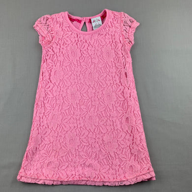 Girls All 4 Me, pink lined lace party dress, GUC, size 2