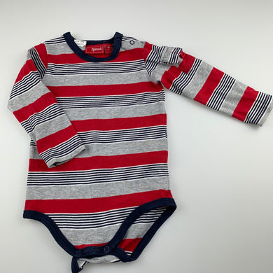 Boys Sprout, striped stretchy bodysuit / romper, FUC, size 1