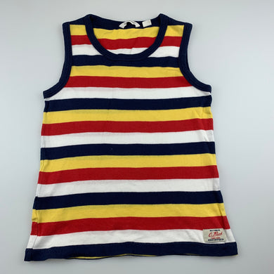 Boys Country Road, striped cotton tank top / singlet, FUC, size 8