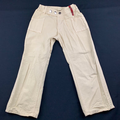 Unisex Imps & Elfs, beige cotton casual pants, adjustable, Inside leg: 40cm, EUC, size 5