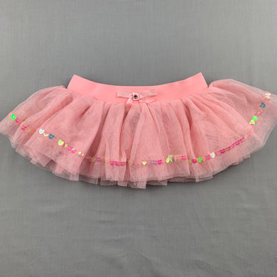Girls Active & Co, pink tulle tutu dance / party skirt, GUC, size 4-6