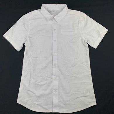 Boys B Collection, white cotton short sleeve shirt, NEVER WORN, EUC, size 12