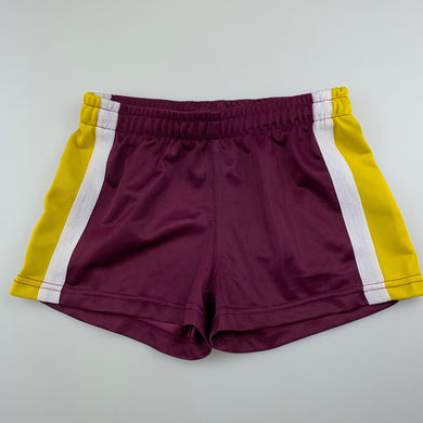 Unisex B&L, maroon sports / activewear shorts, GUC, size 7