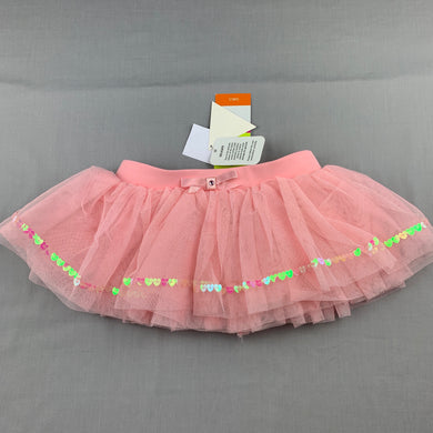 Girls Active & Co, pink dance / ballet tutu skirt, elasticated, NEW, size 8-10