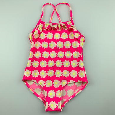 Girls Seed, colourful floral swim one-piece, FUC, size 2-3
