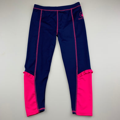Girls Body Glove, navy & pink exercise / activewear leggings, GUC, size 6