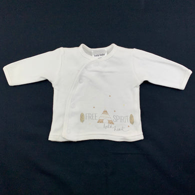 Unisex Baby Baby, soft cotton long sleeve top, EUC, size 00000