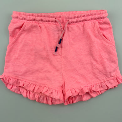 Girls B Collection, pink soft feel shorts, elasticated, EUC, size 6