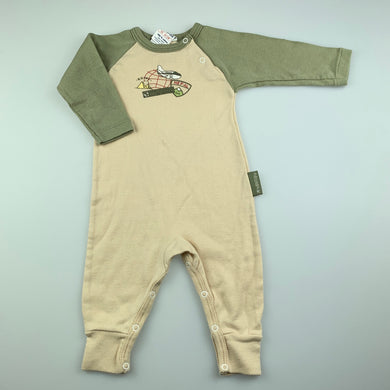 Boys Absorba, soft cotton romper, aeroplane, FUC, size 000