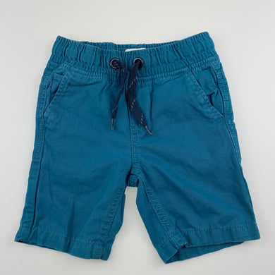 Boys Pumpkin Patch, blue cotton shorts, elasticated, GUC, size 2