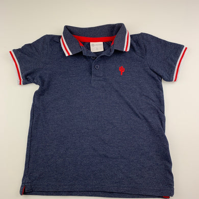 Boys B Collection, dark blue polo shirt / top, GUC, size 5