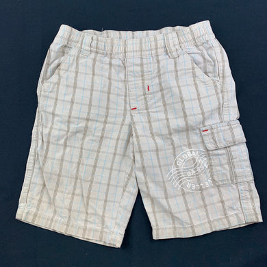 Boys Sprout, beige lightweight cotton shorts, elasticated, FUC, size 1