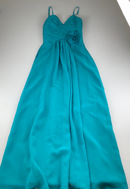 Girls Light in the Box, teale formal / party / bridesmaid dress, L: 127cm, armpit to armpit: 32cm, GUC, size 8-10