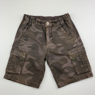 Boys Pumpkin Patch, camo print cotton cargo shorts, adjustable, FUC, size 2