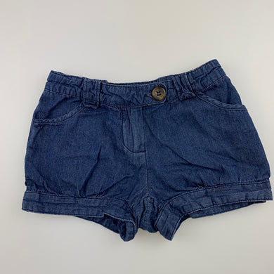 Girls Seed, lightweight denim shorts, adjustable, GUC, size 3-4