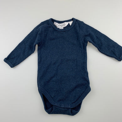 Unisex 4Baby, dark blue cotton bodysuit / romper, EUC, size 000