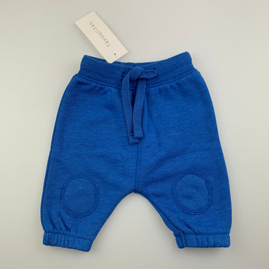 Unisex Baby Berry, blue fleece lined track / sweat pants, NEW, size 0000