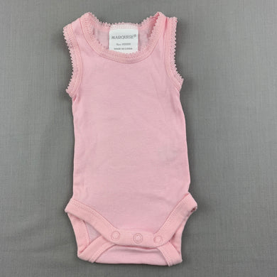 Girls Marquise, pink soft cotton singletsuit / romper, EUC, size 00000