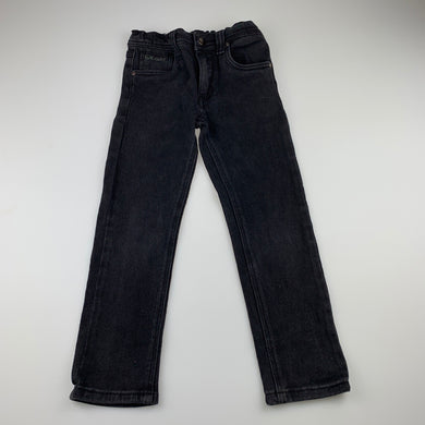 Boys Bad Boy, black stretch denim jeans, adjustable, Inside leg: 48cm, GUC, size 5