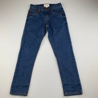 Boys Country Road, blue stretch denim jeans, adjustable, Inside leg: 53cm, EUC, size 6