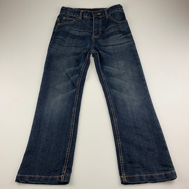 Boys Emerson, dark denim jeans, adjustable, Inside leg: 54cm, EUC, size 7